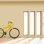自転車・クロスバイクを壁掛けディスプレイできる家にリノベーション